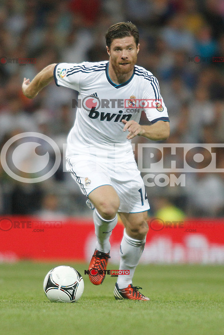 Real Madrid's Xabi Alonso during Super Copa of Spain on Agost 29th 2012...Photo:  (ALTERPHOTOS/Ricky) Super Cup match. August 29, 2012. <br />