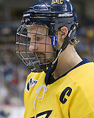 Adam Ross (Merrimack - 26) - The University of Notre Dame Fighting Irish defeated the Merrimack College Warriors 4-3 in overtime in their NCAA Northeast Regional Semi-Final on Saturday, March 26, 2011, at Verizon Wireless Arena in Manchester, New Hampshire.