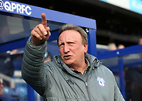 Cardiff City manager Neil Warnock<br /> <br /> Photographer /Rob NewellCameraSport<br /> <br /> The EFL Sky Bet Championship - Queens Park Rangers v Cardiff City - Saturday 4th March 2017 - Loftus Road - London<br /> <br /> World Copyright &copy; 2017 CameraSport. All rights reserved. 43 Linden Ave. Countesthorpe. Leicester. England. LE8 5PG - Tel: +44 (0) 116 277 4147 - admin@camerasport.com - www.camerasport.com