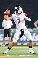 Baltimore, MD - SEPT 10, 2016: St. Francis (Pa) Red Flash quarterback Zack Drayer (7) in action during game against Towson at Johnny Unitas Stadium in Baltimore, MD. The Tigers defeated St. Francis 35-28. (Photo by Phil Peters/Media Images International)