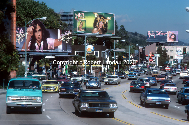 The Sunset Strip with Three Billboards, 1979