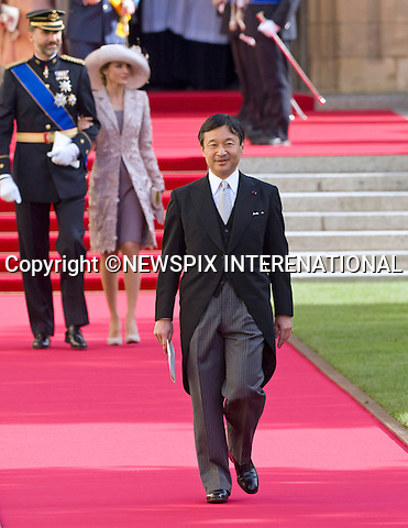"""PRINCE NARUHITO OF JAPAN.Religious Wedding Ceremony of HRH the Hereditary Grand Duke and Countess Stéphanie de Lannoy at Cathedral of Our lady of Luxembourg, Luxembourg_20-10-2012.Mandatory credit photo: ©Dias/NEWSPIX INTERNATIONAL..(Failure to credit will incur a surcharge of 100% of reproduction fees)..                **ALL FEES PAYABLE TO: """"NEWSPIX INTERNATIONAL""""**..IMMEDIATE CONFIRMATION OF USAGE REQUIRED:.Newspix International, 31 Chinnery Hill, Bishop's Stortford, ENGLAND CM23 3PS.Tel:+441279 324672  ; Fax: +441279656877.Mobile:  07775681153.e-mail: info@newspixinternational.co.uk"""