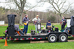 Woodbury, CT- 22 April 2017-042217CM05-  The Dr. Steve Band performs during the 22nd Annual Woodbury Earth Day celebration at Hollow Park in Woodbury on Saturday. Also with her is her other daughter Akiranova 9 months old.  The event sponsored by Pomperaug River Watershed Coalition, featured vendors, resources and demonstrations from conservation-minded stores, artists and food vendors.  Christopher Massa Republican-American