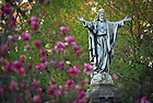 Jesus statue on main quad.  Spring 2010...Photo by Matt Cashore/University of Notre Dame