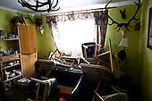 Kocmierzow near Sandomierz 02 June 2010 Poland <br /> On Wendesday May 19, 2010 water on Vistula river reached the highest level in this region since 1860. The anti-flood dam broke at 6.40 am in Kocmierzow. Water flooded living quarters in Sandomierz, surrounding villages and almost entire Tarnobrzeg county. On Saturday June 5, the second wave of flooding came, bringing even more destruction.<br /> Sandomierz is the one of the hardest hit places in the country. When water levels dropped, enormous losses became clearly visible. That brought frustration to the town's citizens, who are now planning to sue the Polish government for not sufficiently securing the banks of Vistula river to prevent such a disastrous flood.<br /> This series of images consists entirely of interiors of the houses on Bosmanska street in Sandomierz and Kocmierzow<br /> <br /> (Photo by Filip Cwik / Newsweek Poland / Napo Images)<br /> <br /> Kocmierzow obok Sandomierza 02 czerwiec 2010 Polska<br /> W srode 19 maja 2010 roku woda na rzece Wisle osiagnela najwyzszy poziom w tym regioie od 1860 roku. O 6:40 pekl wal przeciwpowodziowy w Kocmierzowie. Woda zalala czesc mieszkalna Sandomierza okoliczne wsie oraz niemal caly powiat Tarnobrzeski. W sobote 5 czerwca przyszla druga fala powodziowa. Po raz kolejny dokonala zniszczen i spustoszenia. To jedno z miejsc najbardziej dotknietych przez tegoroczna powodz. Olbrzymie straty po zejsciu wody doprowadzily do frustracji mieszkancow ktorzy chca zaskarzyc skarb panstwa o brak odpowiedniego  zabezpieczenia przed wylaniem Wisly.<br /> nz Sandomierz, ulica Kocmierzowska, dom p. Gospodarczyk, pokoj dzienny<br /> (fot. Filip Cwik / Newsweek Polska / Napo Images)