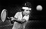 Former professional tennis player Mary Joe Fernández during her youth in Miami, circa 1980s.