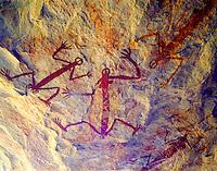 Ancient Aboriginal Rock Paintings at Major Art, Arnhem Land Aboriginal Reserve, Arnhem Land, Northern Territory, Australia