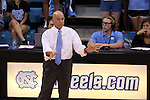10 September 2015: UNC head coach Joe Sagula. The University of North Carolina Tar Heels hosted the Stanford University Cardinal at Carmichael Arena in Chapel Hill, NC in a 2015 NCAA Division I Women's Volleyball contest. North Carolina won the match 25-17, 27-25, 25-22.