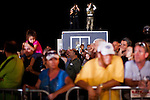 Law enforcement watches the crowd at a Romney/Ryan campaign rally in Daytona Beach, Florida, October 19, 2012.