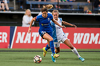 Seattle, WA - Sunday, May 21, 2017: Katlyn Johnson during a regular season National Women's Soccer League (NWSL) match between the Seattle Reign FC and the Orlando Pride at Memorial Stadium.