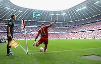 FUSSBALL   1. BUNDESLIGA  SAISON 2012/2013   3. Spieltag FC Bayern Muenchen - FSV Mainz 05     15.09.2012 Eckball von Xherdan Shaqiri (FC Bayern Muenchen) in der Allianz Arena