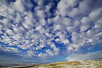 Patterned cumulous clouds over the arctic coastal plains of Alaska.