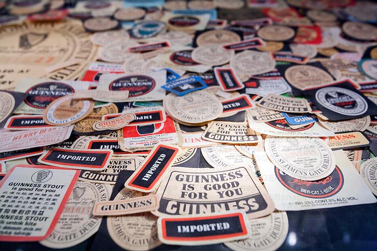 Guinness beer labels, Guinness storehouse, Dublin, Ireland