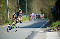 De Ronde van Vlaanderen 2012..Thomas Voeckler trying to escape from the pack