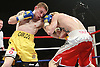 Carl Frampton (Yellow Shorts) beats Robbie Turley (Red, White Shorts) on points for the Celtic super bantamweight title at the Motorpoint Arena, Cardiff, promoted by Matchroom Sports - 04/06/11 - MANDATORY CREDIT: Chris Royle/crphotos.co.uk