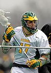 14 April 2007: University of Vermont Catamounts' Alex Young, a Sophomore from Cincinnati, OH, in action against the University of Albany Great Danes at Moulton Winder Field, in Burlington, Vermont. The Great Danes defeated the Catamounts 14-7...Mandatory Photo Credit: Ed Wolfstein Photo