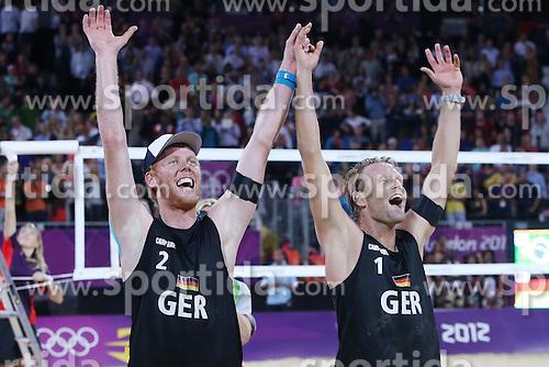 Olympic Games London 2012, Beachvolleyball Men, Final.Julius Brink / jonas Reckermann. © pixathlon