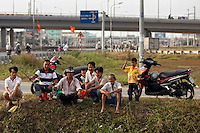 Vietnamese fish in a small pond next to Highway 1 in Ho Chi Minh City...Kevin German / LUCEO