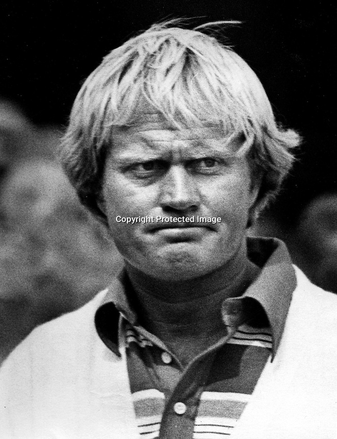 PGA golfer Jack Nicklaus (1977 photo by Ron Riesterer)