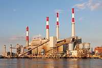 The TransCanada Ravenswood Generating Station, located in Long Island City, Queens, New York viewed from Roosevelt Island.