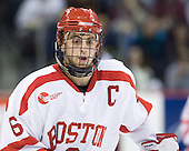 Joe Pereira (BU - 6) - The visiting Boston College Eagles defeated the Boston University Terriers 3-2 to sweep their Hockey East series on Friday, January 21, 2011, at Agganis Arena in Boston, Massachusetts.