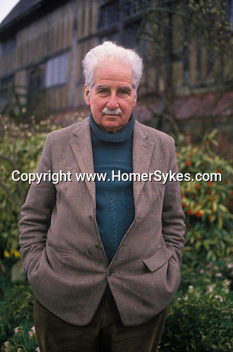 Christopher Lloyd at Great Dixter his country home. East Sussex. England Circa 1990.Portrait of the garden designer author and plantsman