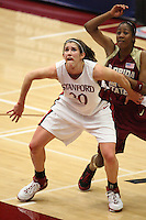 19 March 2007: Brooke Smith during Stanford's 68-61 second round loss to Florida State in the 2007 NCAA Division I Women's Basketball Championships at Maples Pavilion in Stanford, CA.