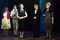 London, UK. 09.10.2014. Mountview Academy of Theatre Arts presents CURTAINS, at the Bernie Grant Arts Centre. Picture shows: Lauren Soley, Manuel Beltrán Pacific (BOBBY PEPPER), Lottie Henshall (GEORGIA HENDRICKS), Liam Farrow (OSCAR SHAPIRO) and Chloe Carroll (CARMEN BERNSTEIN). Photograph © Jane Hobson.