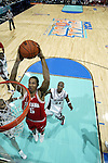 George Leach (#5) of Indiana drives the lane for a slam dunk during the semi final game of the NCAA Final Four Basketball Tournament held at the Georgia Dome in Atlanta, GA.  The University of Indiana went on defeat the University of Oklahoma 73-64 to advance to the final game. Rich Clarkson/NCAA Photos