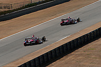 20-21 Febuary, 2012 Birmingham, Alabama USA.Scott Dixon leads Dario Franchitti.(c)2012 Scott LePage  LAT Photo USA