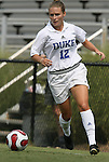 Duke's Lauren Tippets on Sunday September 17th, 2006 at Koskinen Stadium on the campus of the Duke University in Durham, North Carolina. The Duke Blue Devils and Marquette Golden Eagles tied 1-1 after overtime in an NCAA Division I Women's Soccer game.