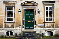 Exterior of a Cotswolds house called The Great House in the country town of Burford, UK