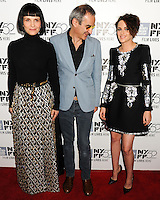 NEW YORK CITY, NY, USA - OCTOBER 08: Juliette Binoche, Olivier Assayas, Kristen Stewart arrive at the 52nd New York Film Festival - 'Clouds Of Sils Maria', 'Merchants Of Doubt' And 'Silvered Water' Premieres held at Alice Tully Hall on October 8, 2014 in New York City, New York, United States. (Photo by Celebrity Monitor)
