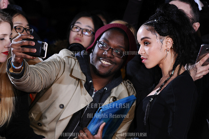 Singer FKA Twiggs (Tahliah Debrett Barnett) at the UK premiere of &quot;The Lost City of Z&quot; at the British Museum, London, UK. <br /> 16 February  2017<br /> Picture: Steve Vas/Featureflash/SilverHub 0208 004 5359 sales@silverhubmedia.com
