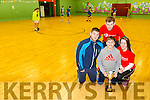 Kenneth Mannix, Peter O'Sullivan, Carrie-Ann Williams Kissane and Ian Mannix at the Jack O'Sullivan Soccer Tournament, Ballybunion at the Community Centre on Friday