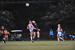 Ole Miss' Erin Emerson (3) vs. Texas Tech's Jessica Fuston (4) at the Ole Miss Soccer Stadium in Oxford, Miss. on Sunday, September 2, 2012.