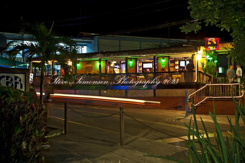 Iguana Grill at night in downtown Cruz Bay, St. John, USVI