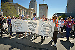 Several thousand United Methodist Women were joined by local community activists as they marched from the Kentucky International Convention Center to Baxter Square Park in Louisville, Kentucky, demanding racial and economic justice. The April 26, 2014, event took place during the 2014 United Methodist Women Assembly.