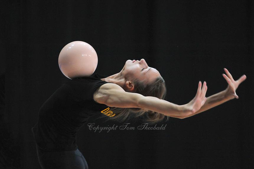 September 4, 2015 - Stuttgart, Germany -  VIKTORIA MAZUR  of Ukraine performs during training at 2015 World Championships.