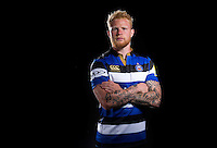 Tom Homer poses for a portrait at a Bath Rugby photocall. Bath Rugby Media Day on August 24, 2016 at Farleigh House in Bath, England. Photo by: Rogan Thomson / JMP / Onside Images