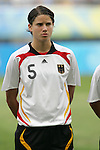 09 August 2008: Annike Krahn (GER).  The women's Olympic soccer team of Germany defeated the women's Olympic soccer team of Nigeria 1-0 at Shenyang Olympic Sports Center Wulihe Stadium in Shenyang, China in a Group F round-robin match in the Women's Olympic Football competition.