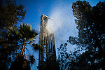 Water and mud blows out of the top of a drill as Diamond Well Drillers drill to deepen the Brady family well in Woodland, California, August 20, 2014. The Brady's home well went dry almost two months ago and Theresa Brady called 65 well drillers before finding one available to deepen their well.