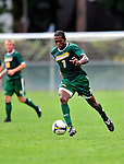 13 September 2009: University of Vermont Catamount forward/midfielder T.J. Gore, a Senior from Macomb, MI, in action against the University of Massachusetts Minutemen during the second round of the 2009 Morgan Stanley Smith Barney Soccer Classic held at Centennial Field in Burlington, Vermont. The Catamounts and Minutemen battled to a 1-1 double-overtime tie. Mandatory Photo Credit: Ed Wolfstein Photo