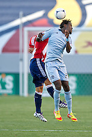 CARSON, CA - April 1, 2012: Kai Kamara (23) of KC during the Chivas USA vs Sporting KC match at the Home Depot Center in Carson, California. Final score Sporting KC 1, Chivas USA 0.