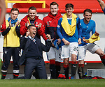 Rangers manager Pedro Caixinha celebrates as Rangers put Aberdeen to the sword