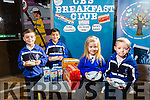 Launching the  Breakfast Club at CBS Primary School on Tuesday were L-R Rigon Stublla, Vishnu Prasanna Vvenkatesan, Katelyn Dennehy and Dean Heaphy