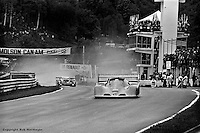 Tom Klausler drives the Schkee Can-Am car during the 1977 SCCA Can-Am race at Le Circuit Mont Tremblant, near St. Jovite, Quebec, Canada.
