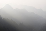 Foggy mountan landscape at Tianmen Mountain National Park, Zhangjiajie, Hunan, China