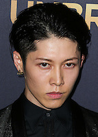 HOLLYWOOD, LOS ANGELES, CA, USA - DECEMBER 15: Takamasa Ishihara AKA Miyavi arrives at the Los Angeles Premiere Of Universal Pictures' 'Unbroken' held at the Dolby Theatre on December 15, 2014 in Hollywood, Los Angeles, California, United States. (Photo by Xavier Collin/Celebrity Monitor)