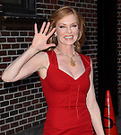 """Celebrities visit """"Late Show with David Letterman"""" New York, Ny January 18, 2012"""